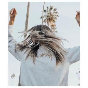 Stussy Embroidered Crew-Neck Sweatshirt